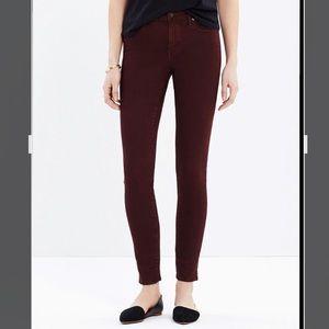 Madewell Skinny Skinny Maroon Jeans 25